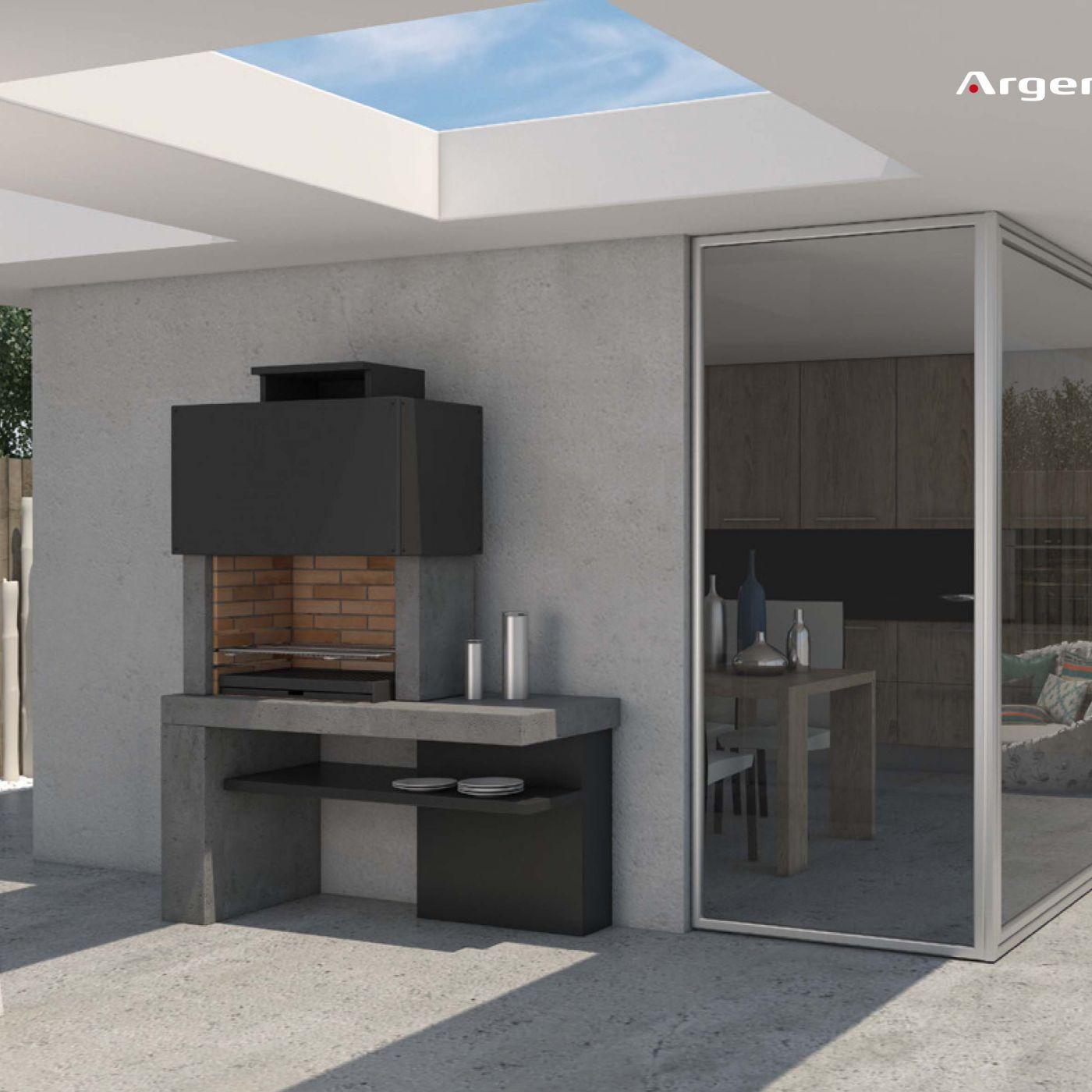 Monaco parrilla pinterest asador terrazas y planos for Asador en patio pequeno