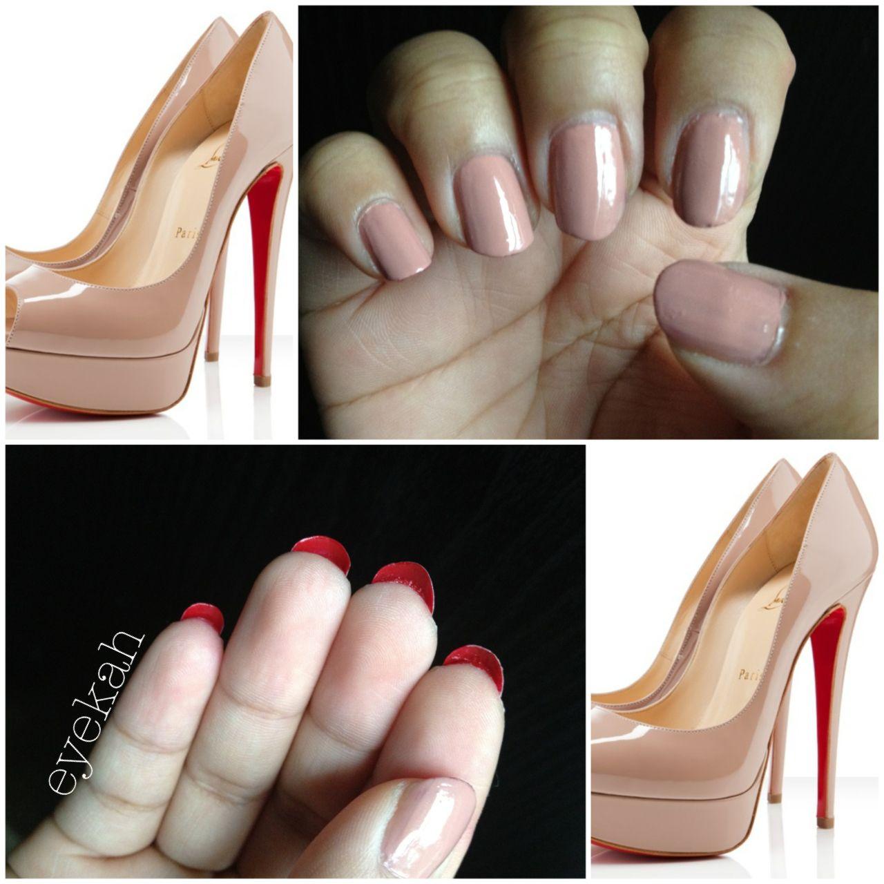 Louboutin inspired nails | Nails | Pinterest | Hair makeup and Makeup