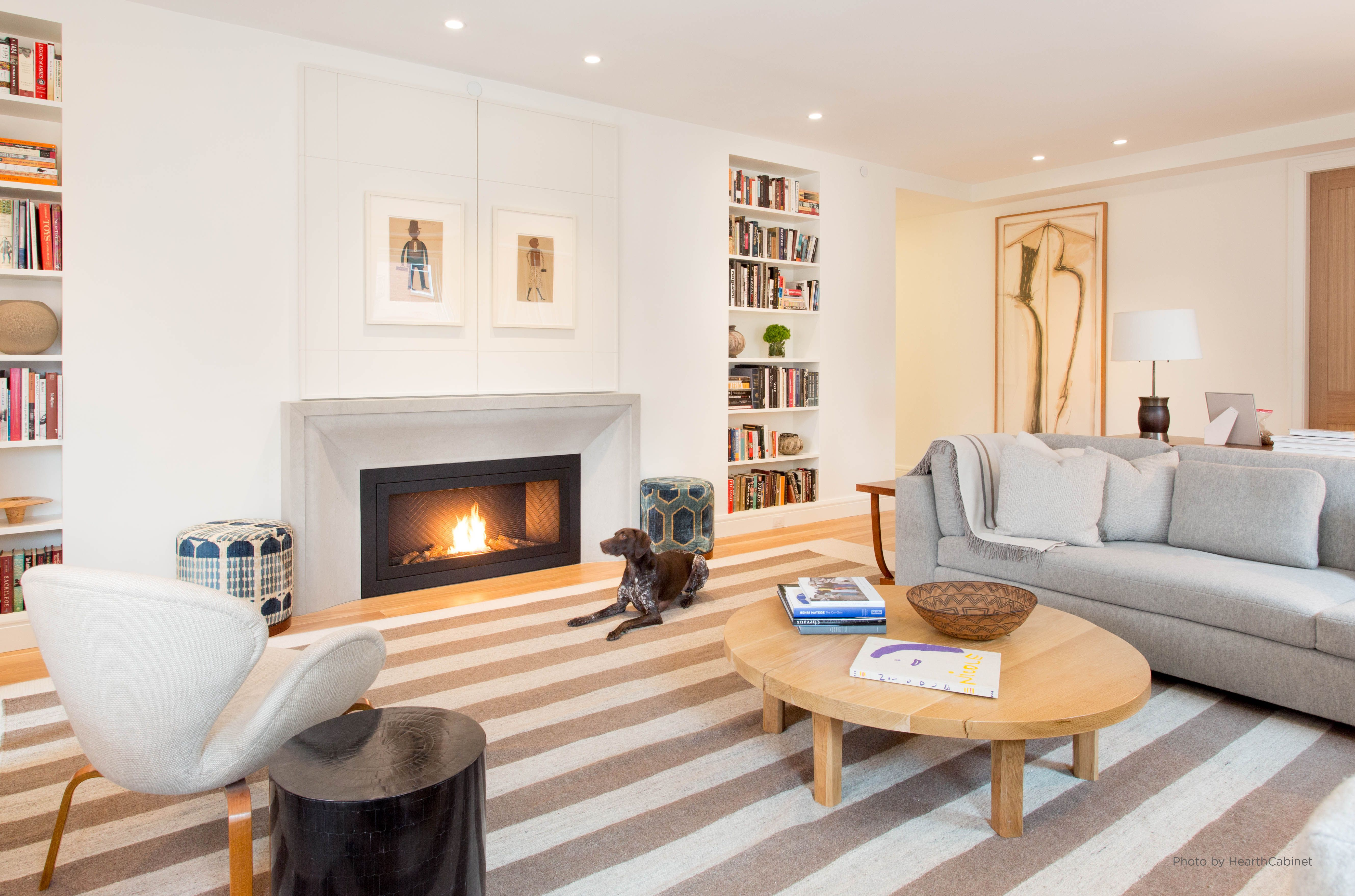 This Custom Designed Fireplace Is A Perfect Match With The Warm