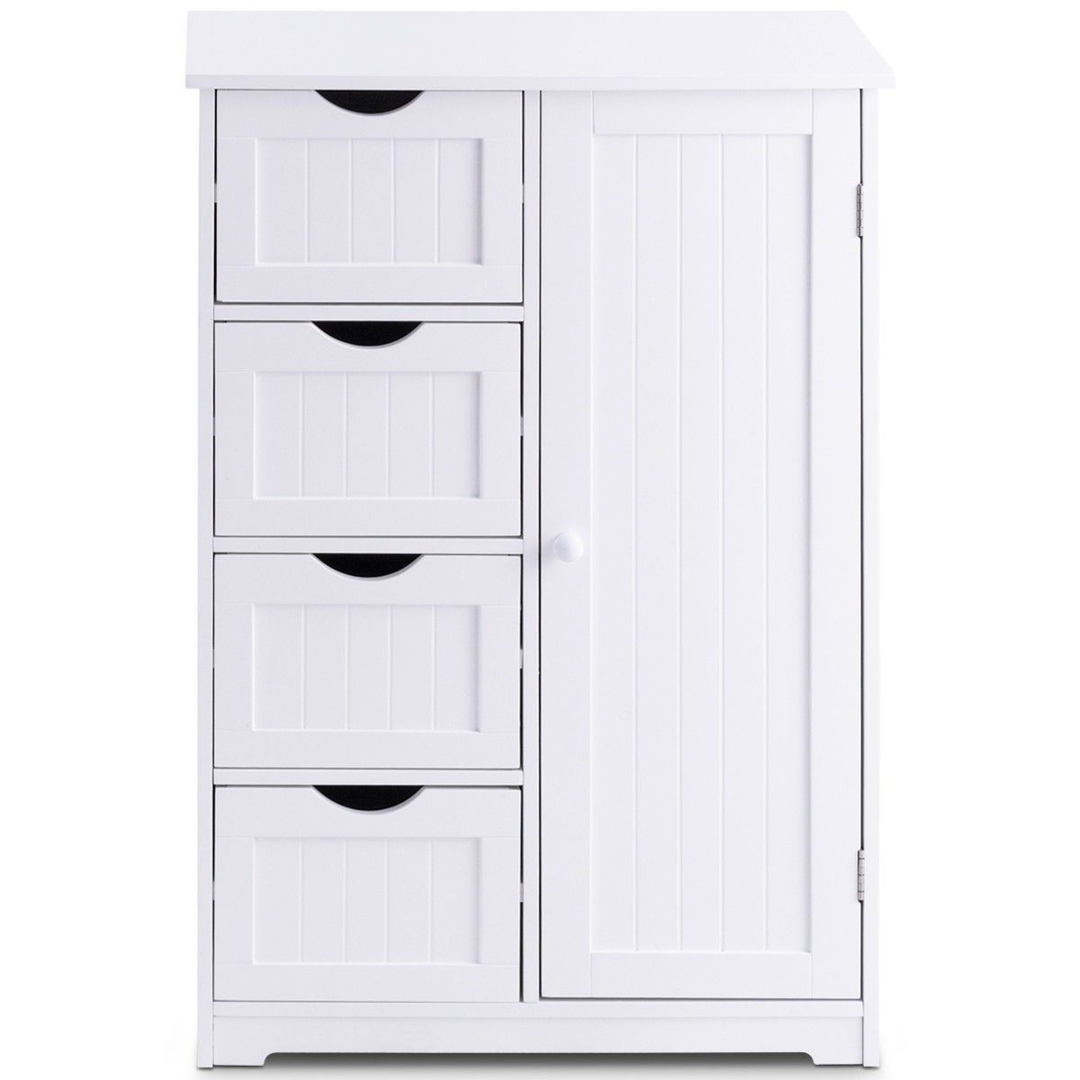 Standing Indoor Wooden Cabinet With 4 Drawers Color White Material Mdf Board Assembled Size 22 Cupboard Storage Bathroom Storage Stand Ikea Storage Cabinets