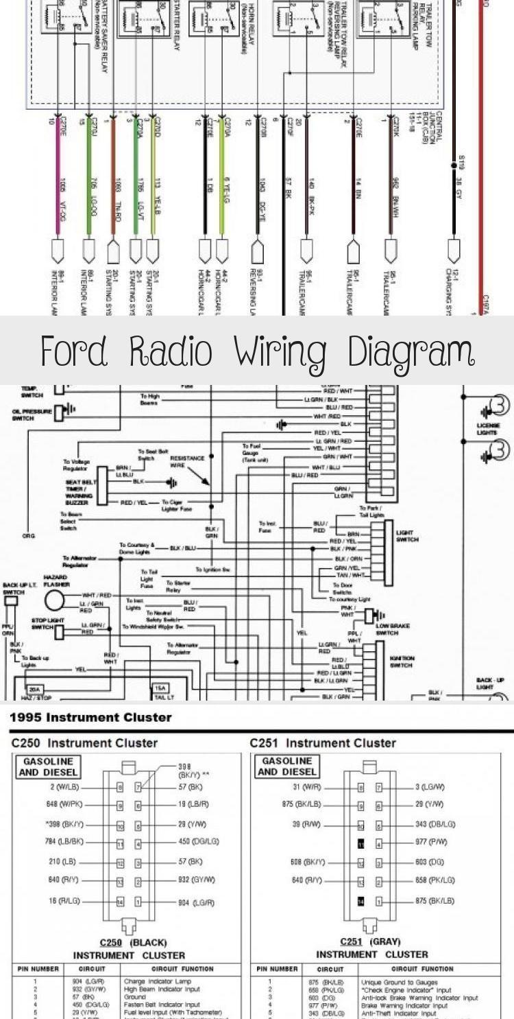 ford radio wiring diagram - cars | ford, ford ranger, radio  pinterest