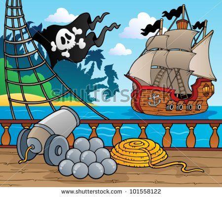 Pirate Ship Deck Backdrop