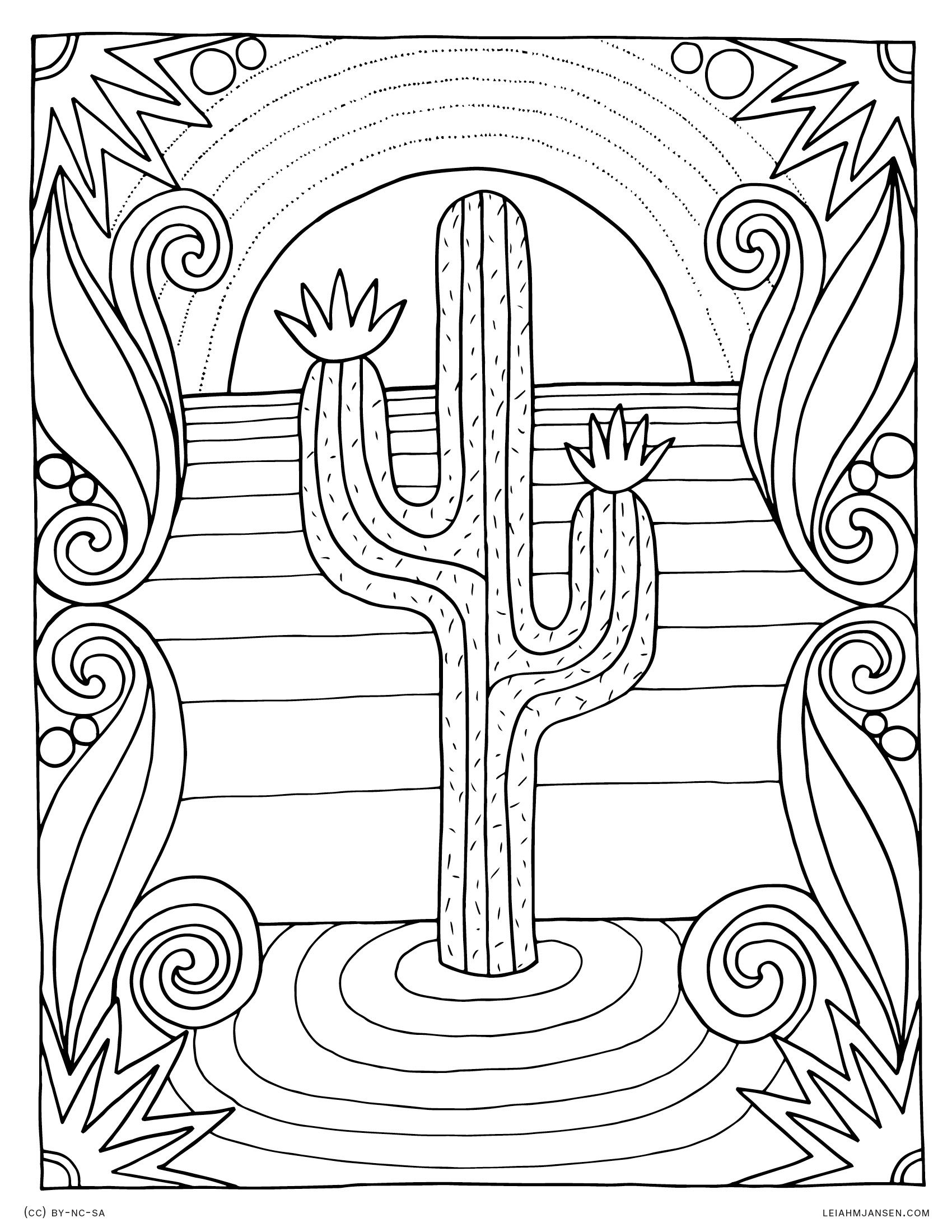 Sunset Coloring Pages Printable
