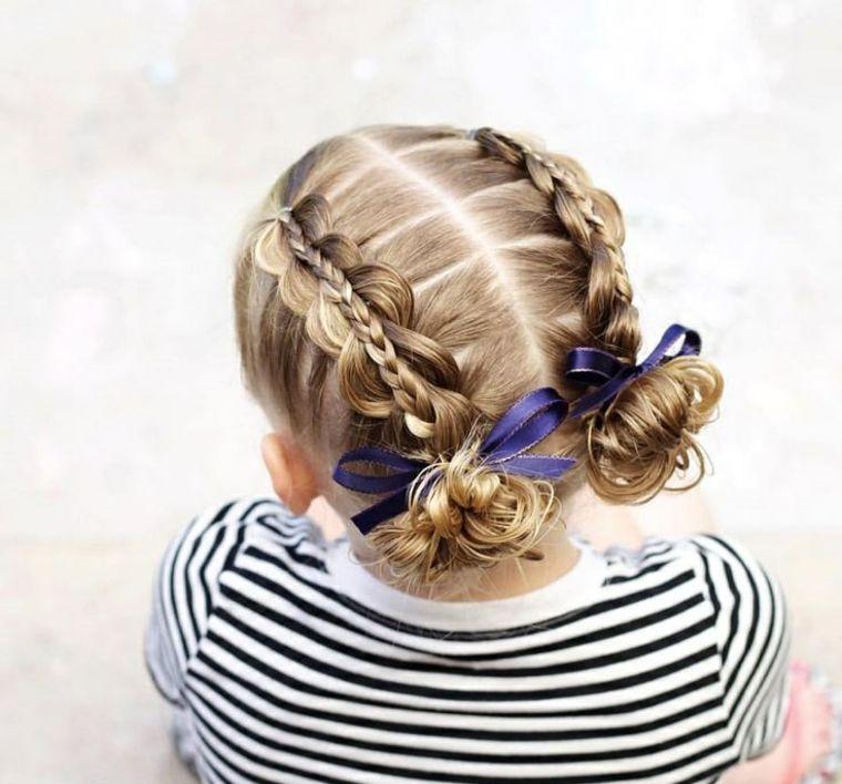 Peinados de niña muy modernos, originales y fáciles de hacer