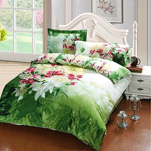 Jasmine Flower Bedding Set Queen Size Flower Print Comfor Https