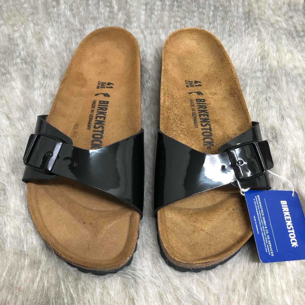 Birkenstock Shoes Birkenstock Black Patent Leather Size 41 Madrid Color Black Size 10 Black Patent Leather Birkenstock Patent Leather