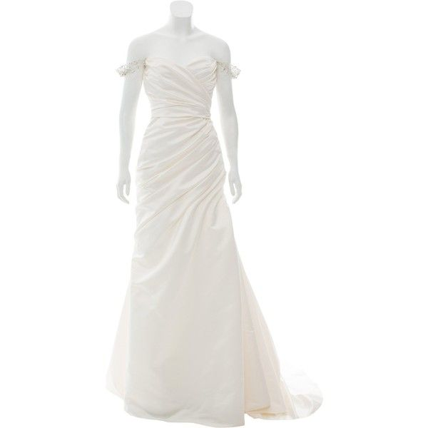 Pre Owned Reem Acra Always And Forever Wedding Gown 1 045 Liked On
