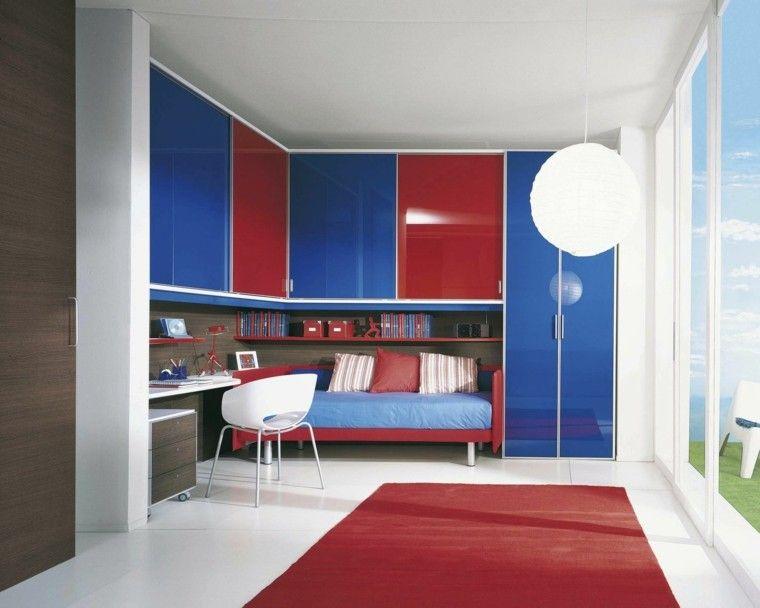 Armarios empotrados para el dormitorio del ni o armario for Modelos de roperos empotrados