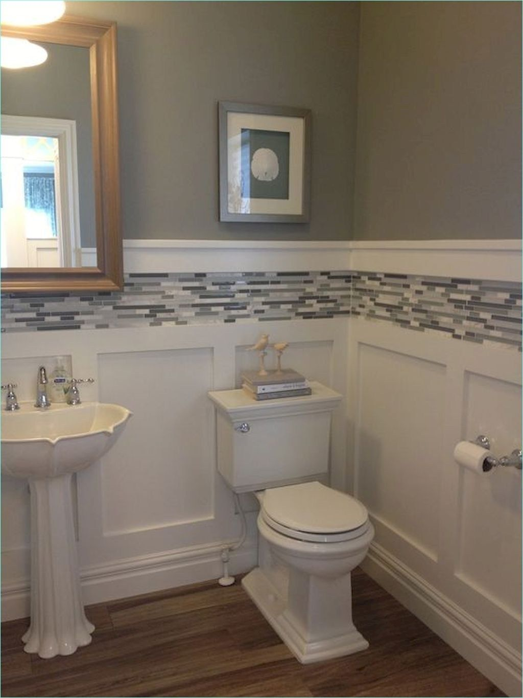 Coolest Small Bathrooms With Wainscoting With Images Small