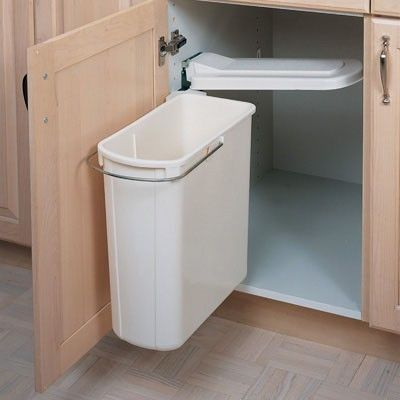 under kitchen sink garbage can kitchen organization swing out cabinet trash can 8695