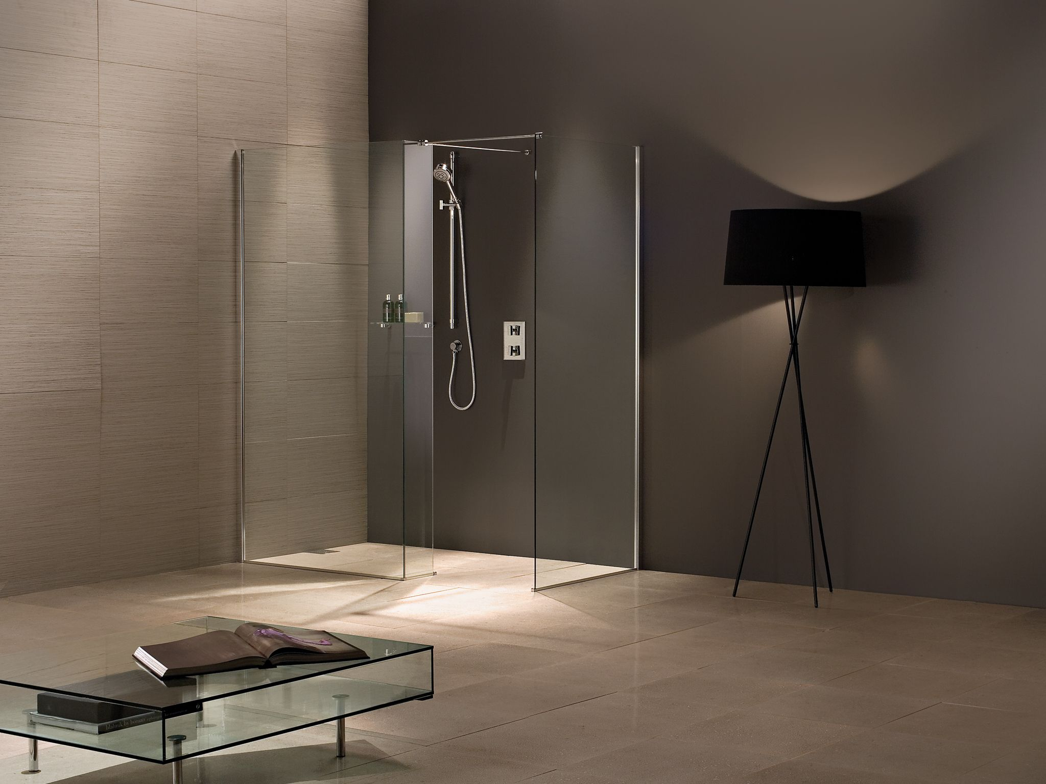 Matki Wet Room Corner Walk In with Side Panel