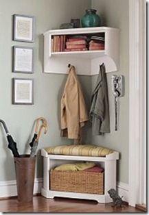 corner cabinet mudroom