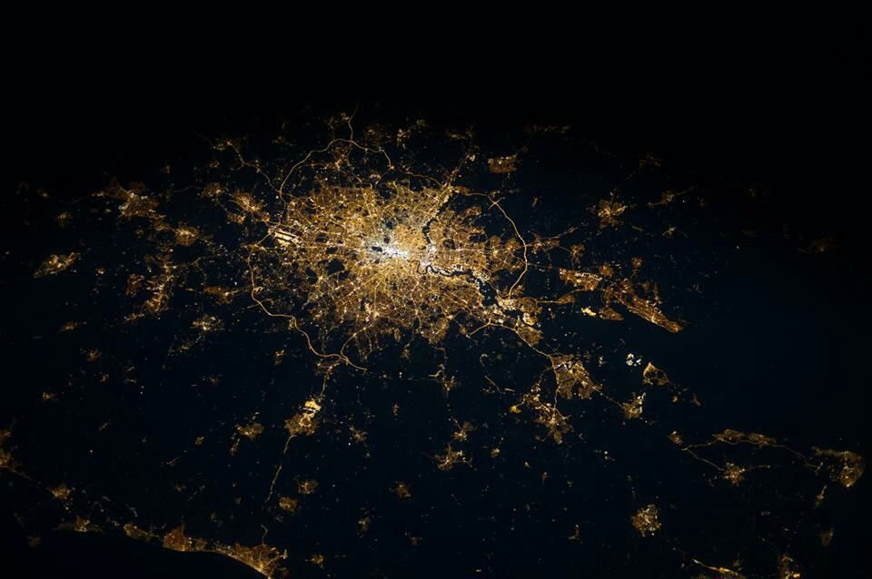 London from the International Space Station