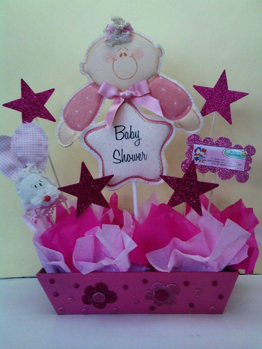 Centros De Mesa Baby Shower Nina Imagui Ducha De Chicas Deco De Baby Shower Baby Shower