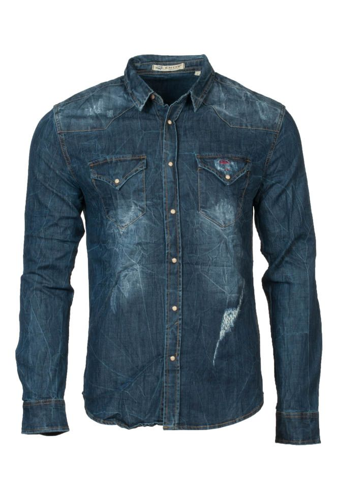 Τζιν ανδρικό καρό πουκάμισο  7fb6d1d7f40