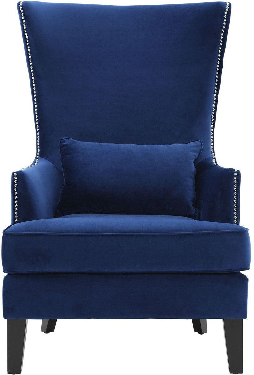 Bristol Blue Tall Chair Tov Furniture In 2020 Chair Tall Chairs Wingback Chair