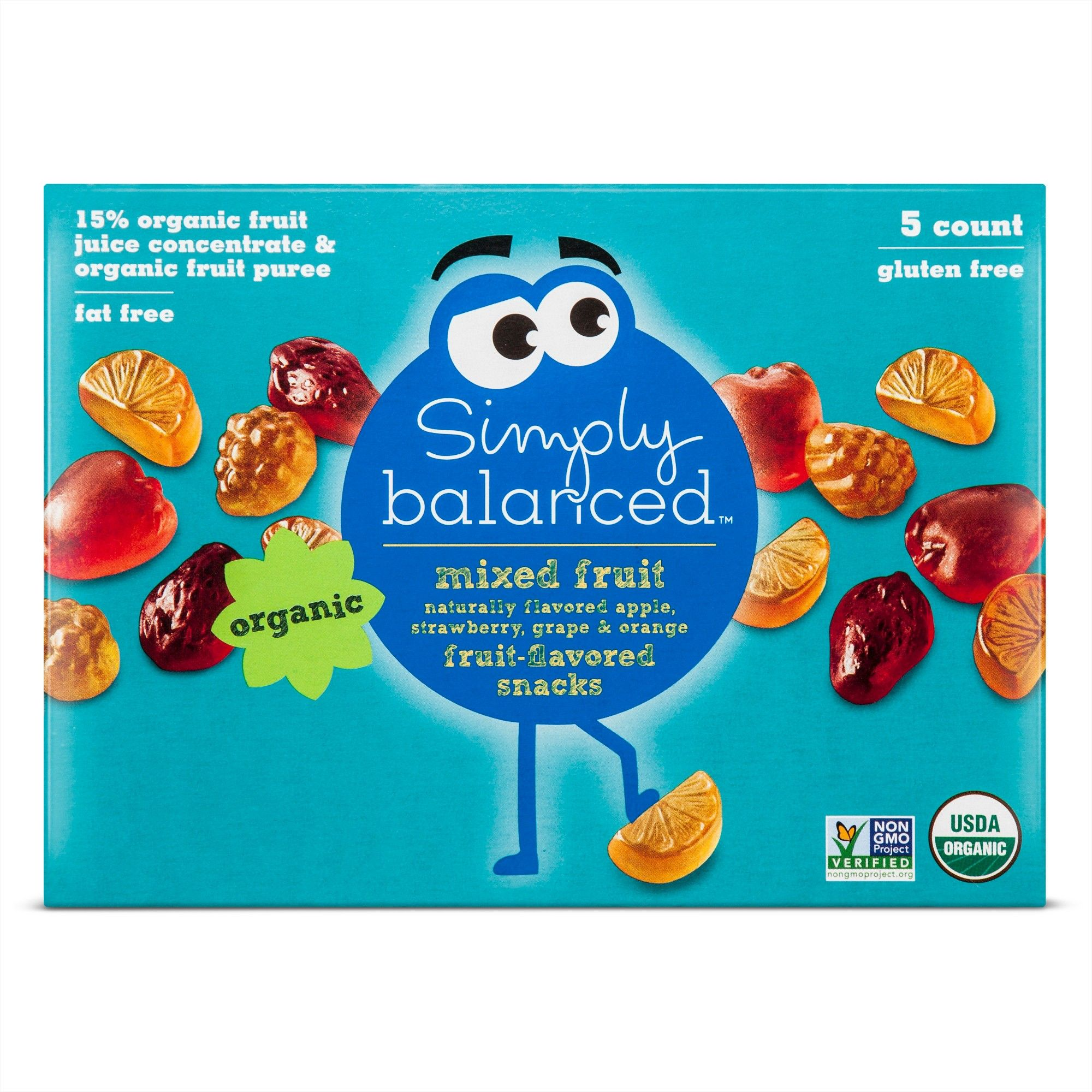 Mixed Fruit Flavored Snacks - 5ct - Simply Balanced | Snacks and ...