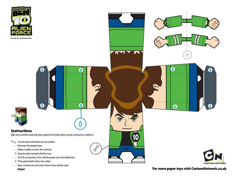 Free Ben 10 printable papercraft (Paper Craft) Figures #free