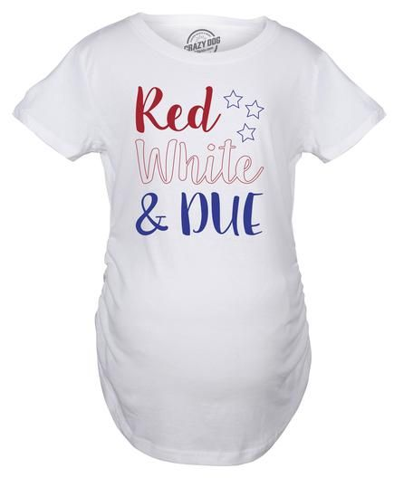 4b5c883af2eae Red White And Due Maternity Tshirt | USA! USA! USA! | Red, white ...