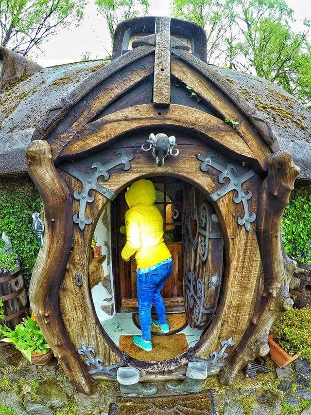 My Uncles Crazy Hobbit House With Images Hobbit House The