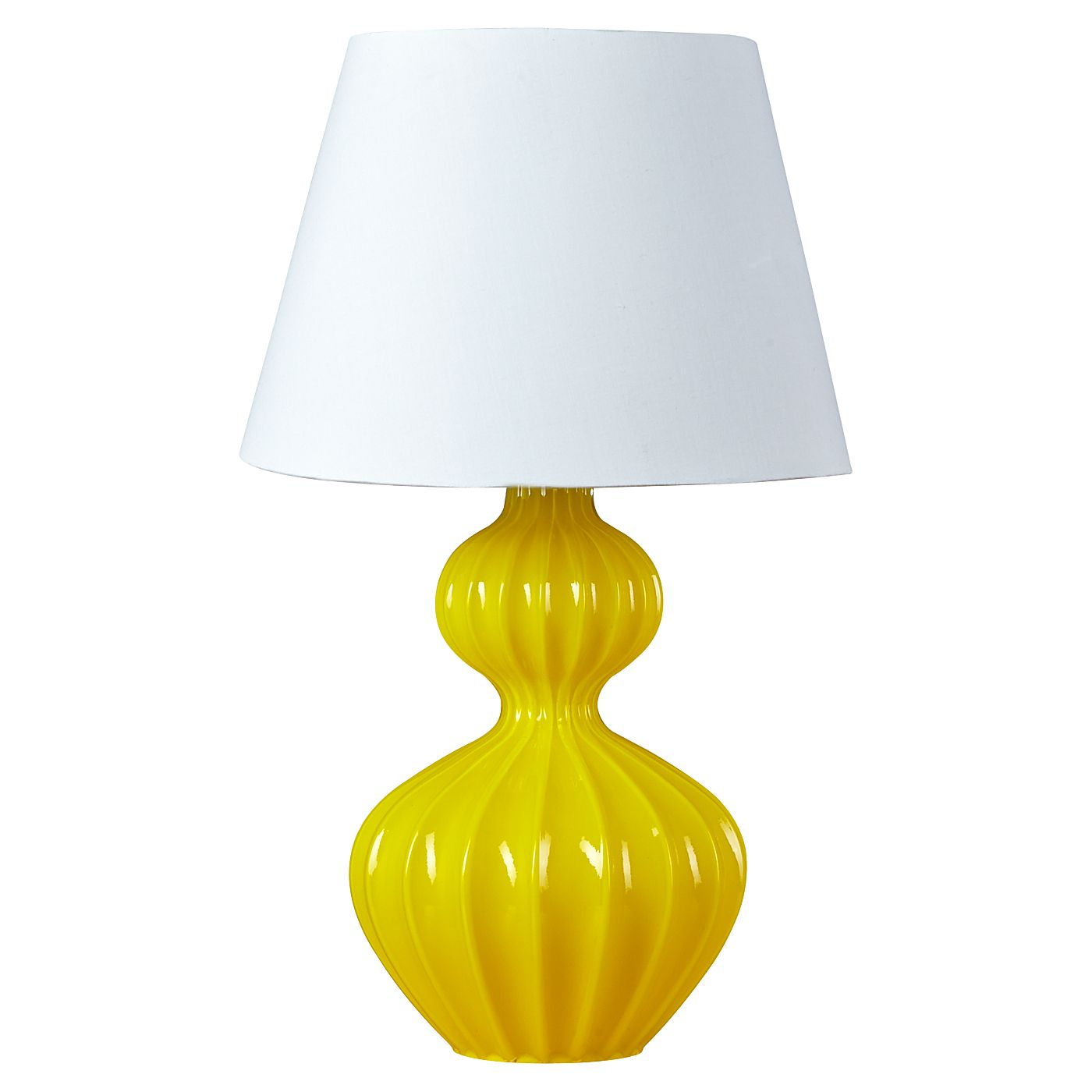 George Home Yellow Fluted Glass Lamp Lighting Asda Direct Lamp Inspiration Yellow Table Lamp Flute Glass