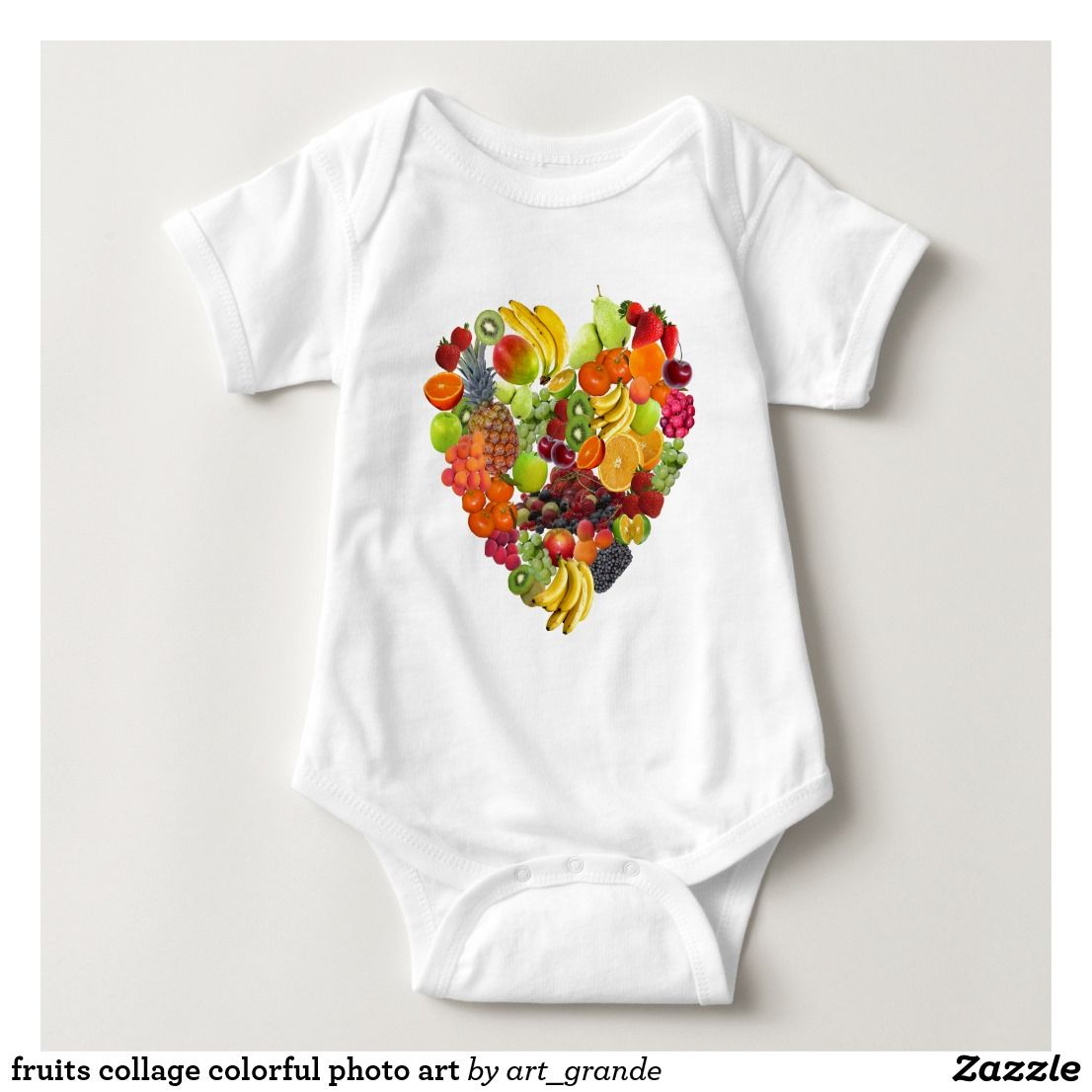 fruits collage colorful photo art baby bodysuit