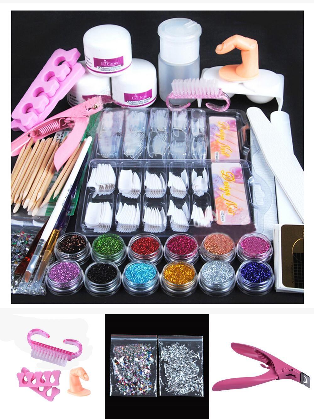 [Visit to Buy] 24 pcs/Set Nail Art Tools Kit Sets Women