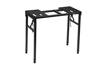 Amazon.com: Gator Frameworks Keyboard and Audio Utility Table with Multi Point Adjustability and Built in Leveling Bubble; Min/Max Height - 26/44 (GFW-UTILITY-TBL): Musical Instruments #musicalinstruments