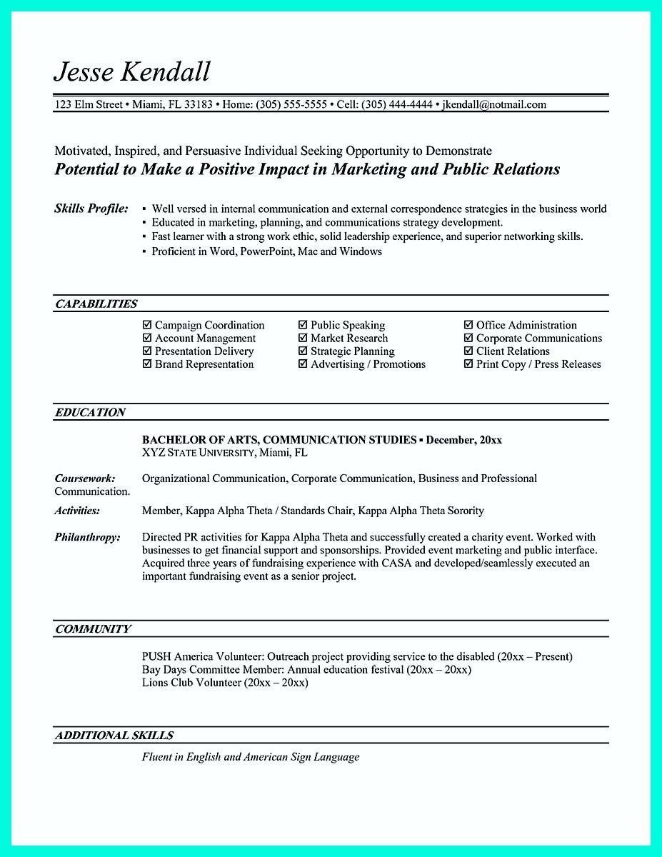 Awesome Making Simple College Golf Resume With Basic But Effective Information Marketing Resume Job Resume Samples Entry Level Resume
