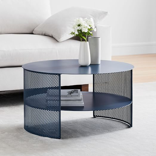 Ruby Storage Coffee Table Petrol Blue Coffee Table Metal