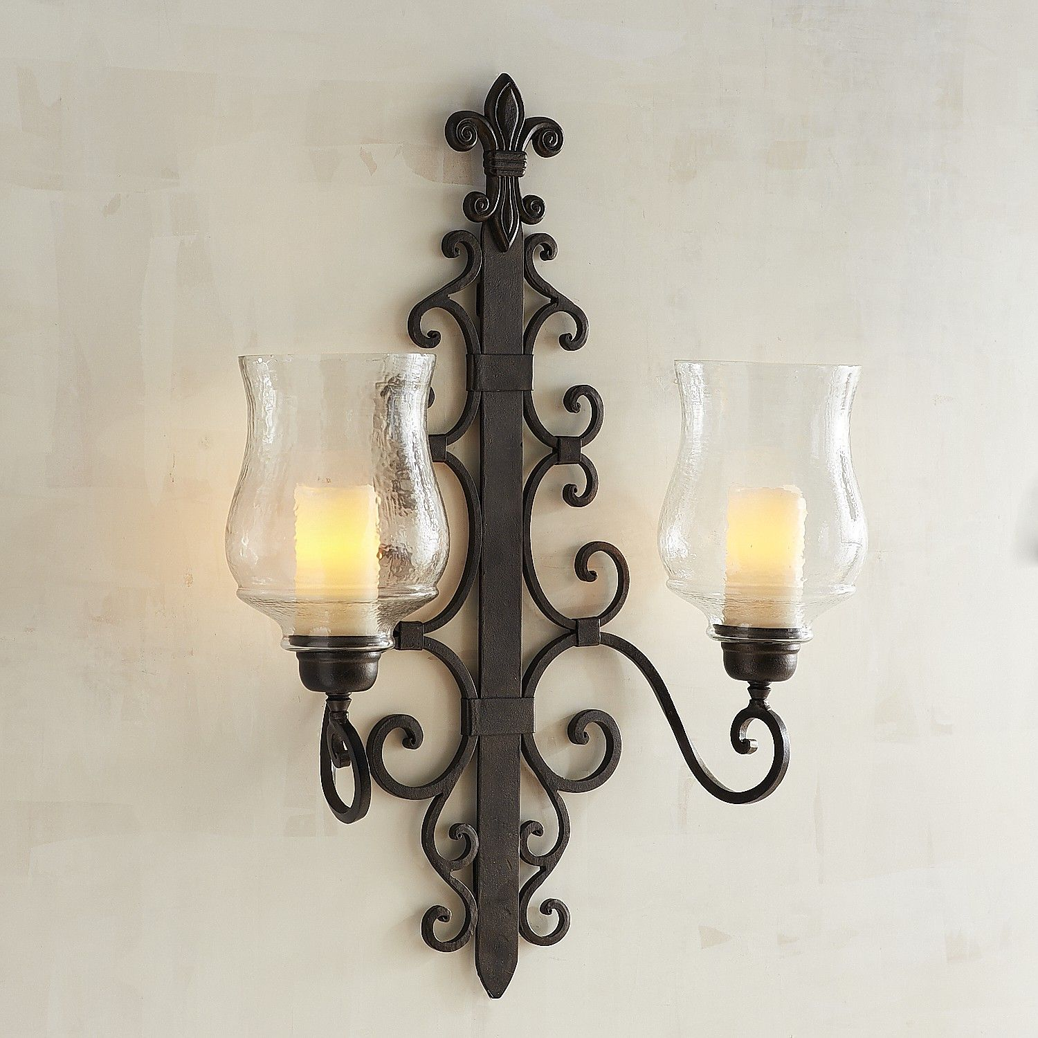 Abella Pillar Candle Wall Sconce | Candle wall sconces ... on Wall Mounted Candle Sconce id=14533