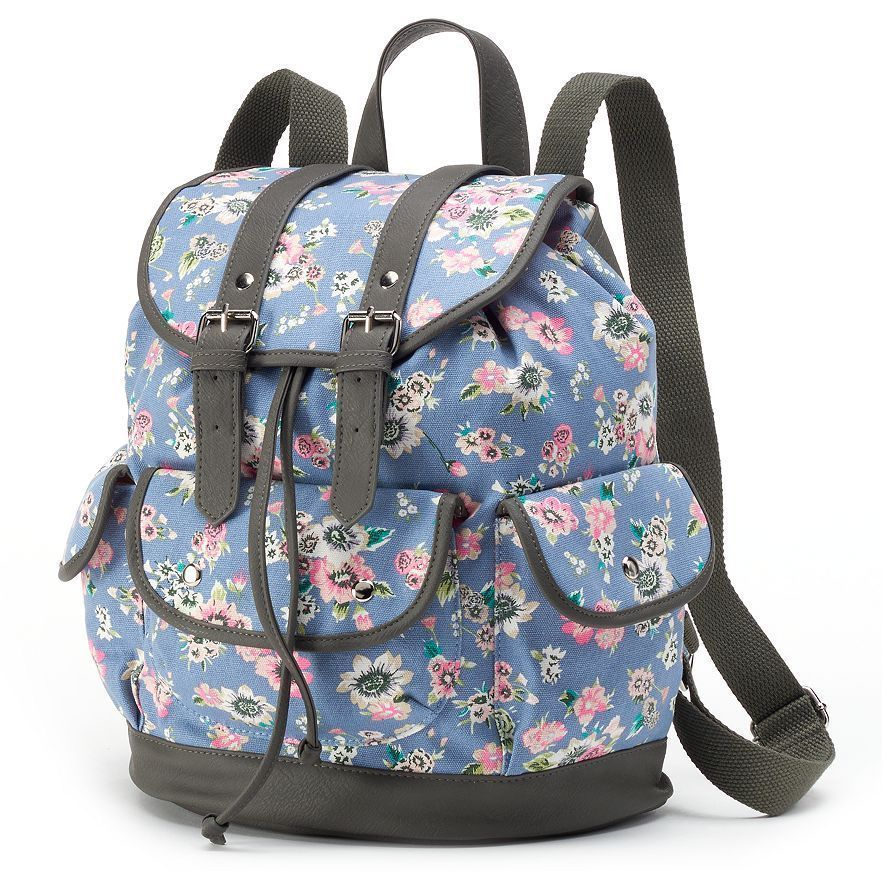Candie\'s Ella Floral Backpack, Blue NWT Girls/Teens | Pinterest