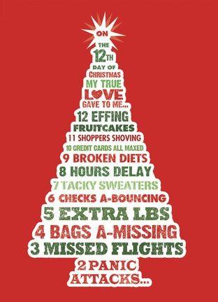12 Days Of Effing Christmas Christmas Card Sayings Christmas Humor Christmas Quotes