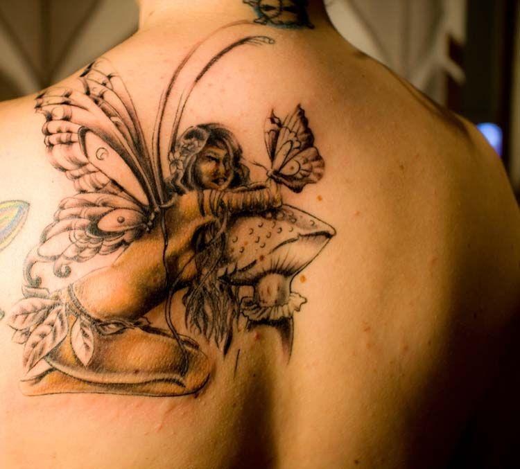 fairy tattoo designs on shoulder tattoo designs cool tattoos pinterest fairy tattoo. Black Bedroom Furniture Sets. Home Design Ideas
