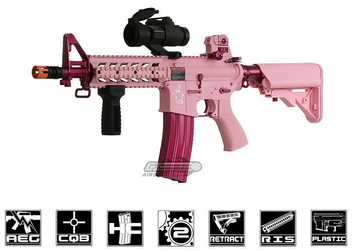 Pink airsoft gun