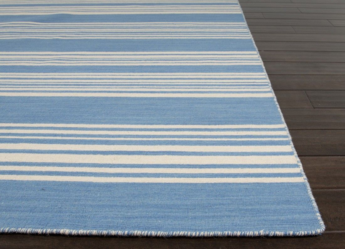 Amistad Bermuda Blue And White Striped Area Rug Blue Striped Rug