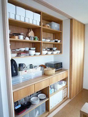 キッチン 背面収納 無印良品