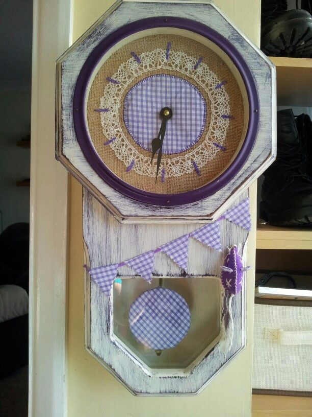 Loved making this quirky clock with vintage lace and a cheeky mouse x