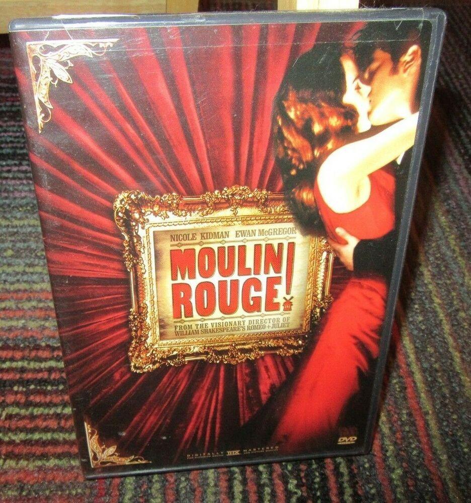 Moulin Rouge Dvd Movie Nicole Kidman Ewan Mcgregor John Leguizamo