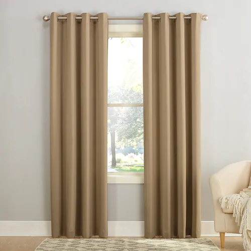 Sun Zero 1 Panel Gramercy Grommet Room Darkening Window Curtain
