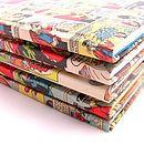 Comic covered noteboks
