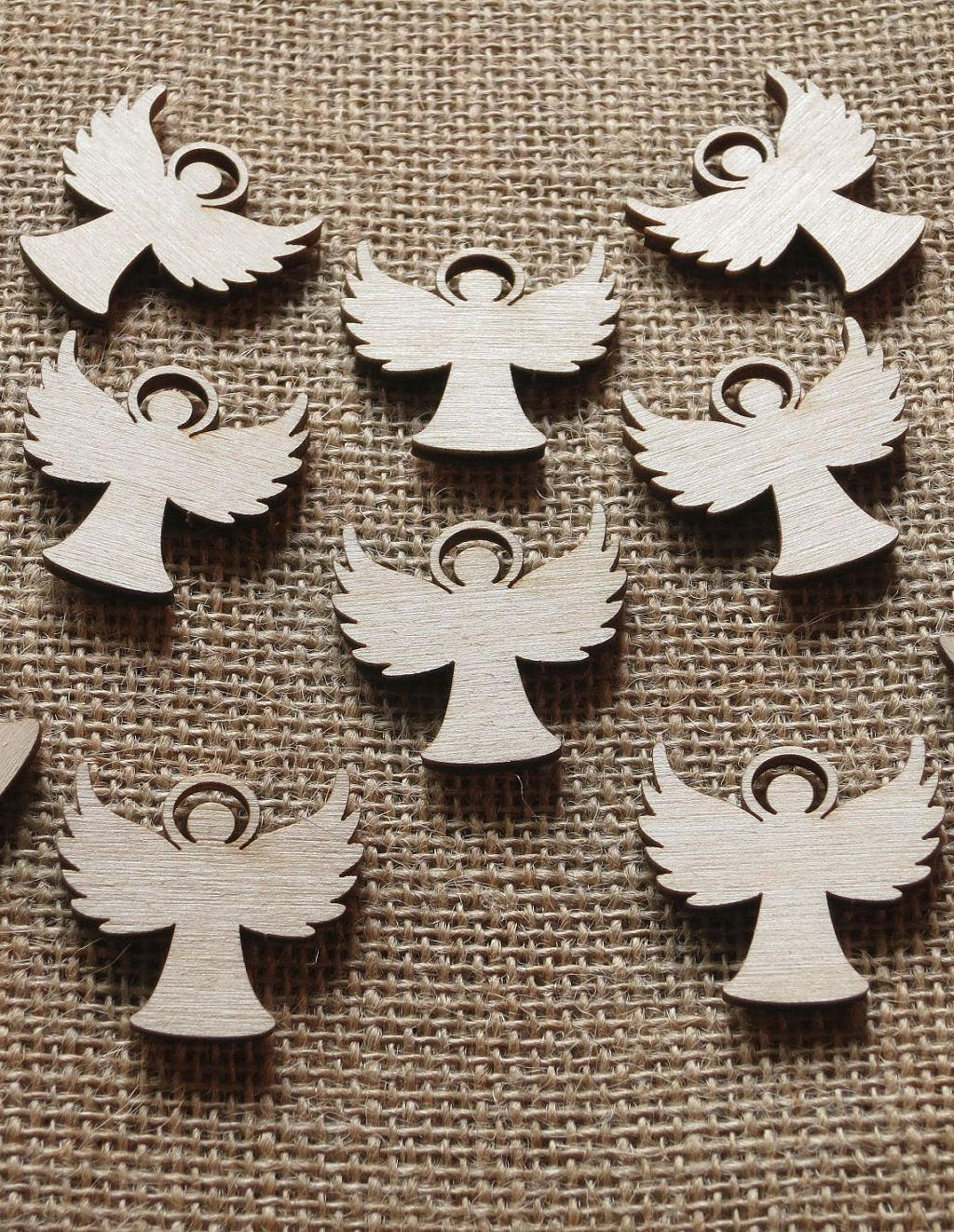 Little Wooden Angels Wedding Favors Cutouts Small Natural Etsy Natural Ornaments Ornament Decor Wooden Angel