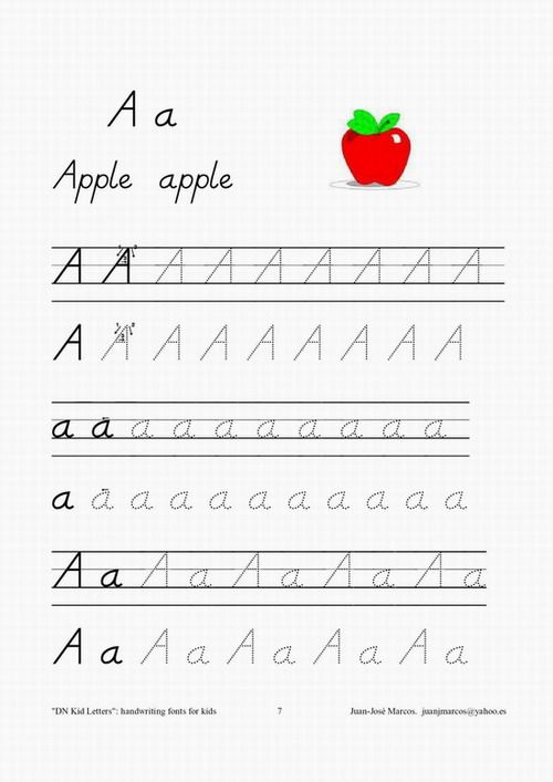 Handwriting fonts for teaching kids to write