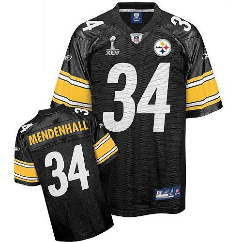 f558323d7ff Reebok Pittsburgh Steelers Rashard Mendenhall 34 Black Authentic Jerseys  Sale. Pittsburgh SteelersNfl