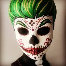 Resultado De Imagen De Dia De Los Muertos Makeup Man Beard Sugar Skull Face Paint Face Painting Halloween Skull Face Paint