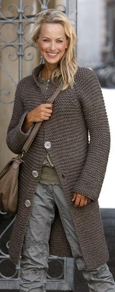 knitting garter stitch coat