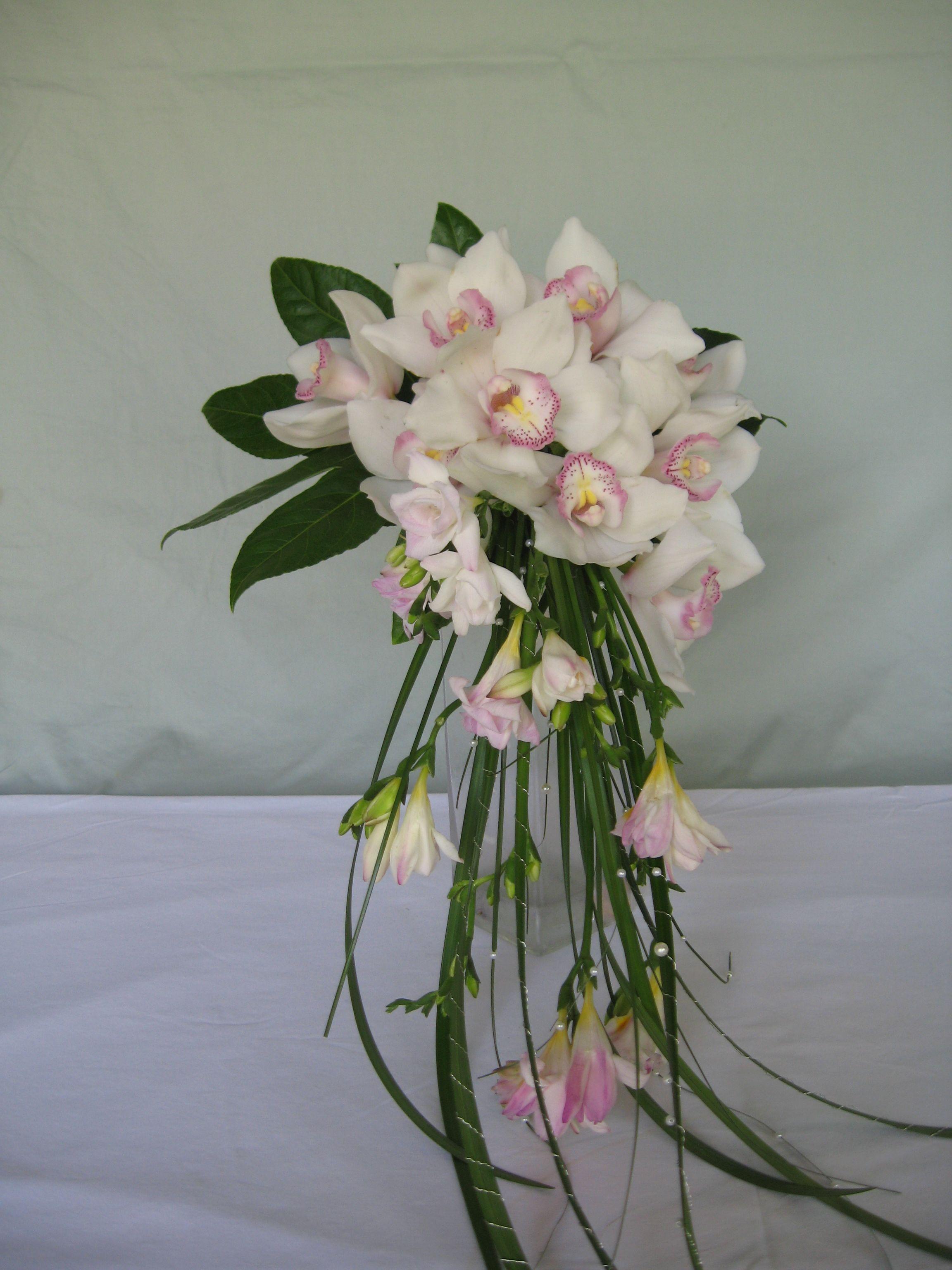 Wedding bouquets not flowers  Forget Me Not Floral Design  Cascading cymbidium orchid bouquet