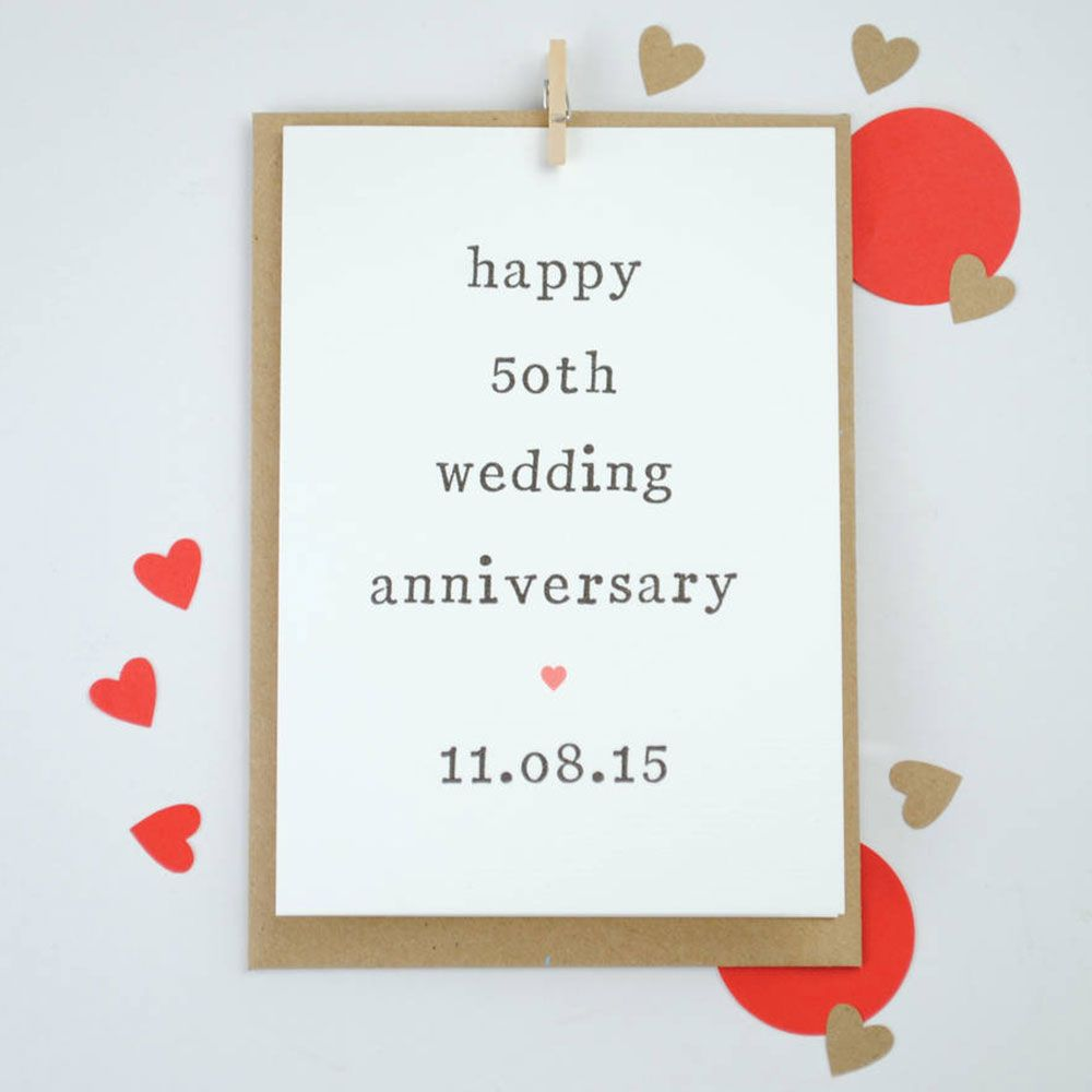 Greeting card personalised 50th wedding anniversary card template greeting card personalised 50th wedding anniversary card template design simple fifty anniversary card kristyandbryce Image collections