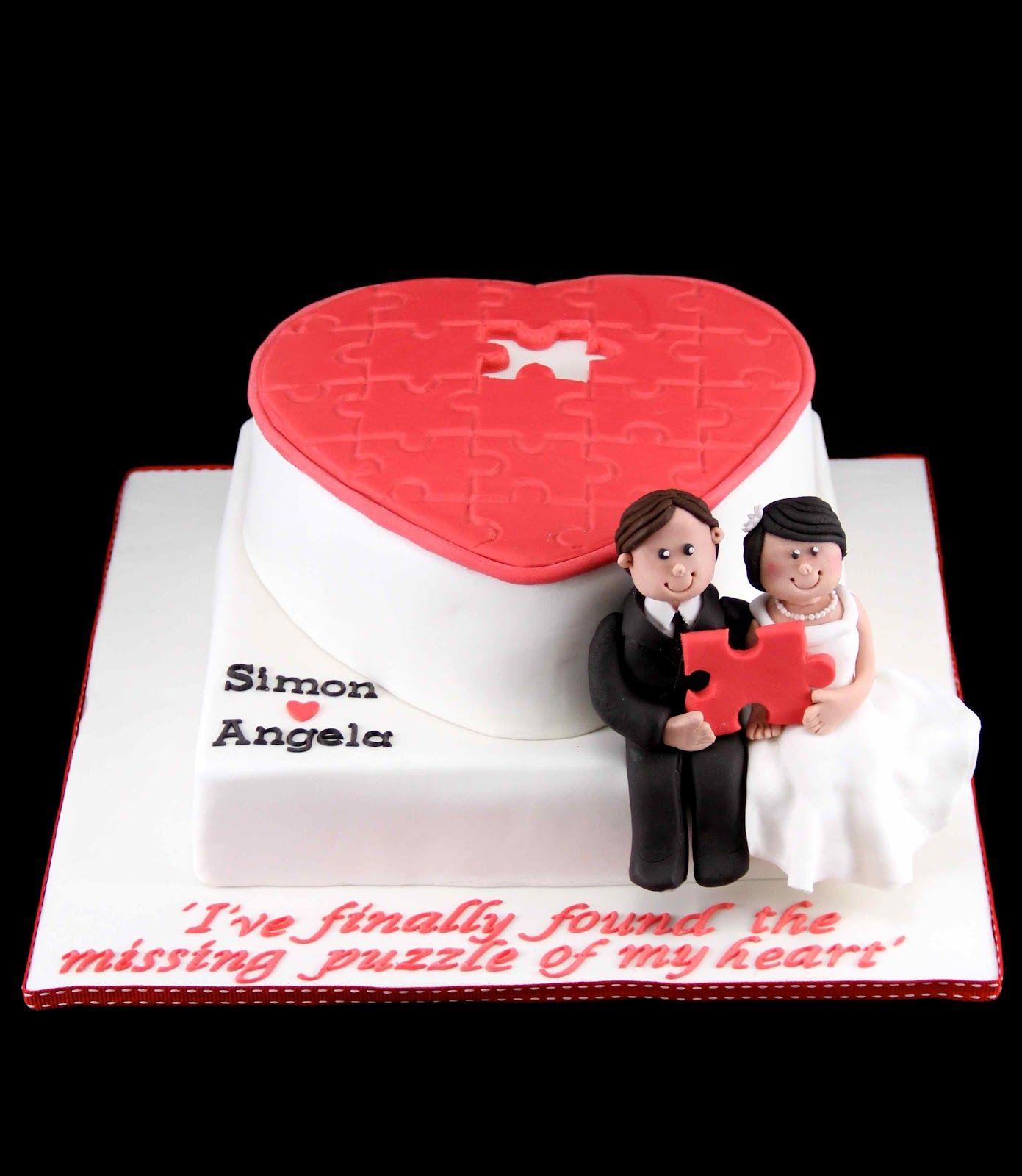 Bakerz Dad: Puzzle Wedding Cake | Cute Cakes! | Pinterest | Wedding ...