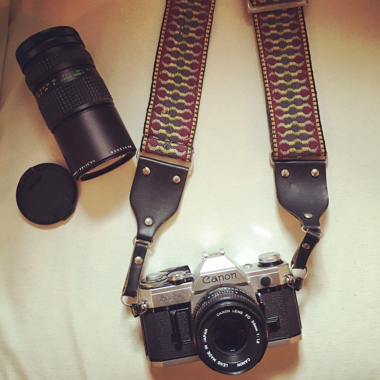vintage camera canon ae 1 extra lens original camera
